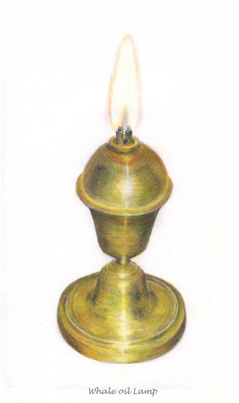 lampe à huile de baleine 19e