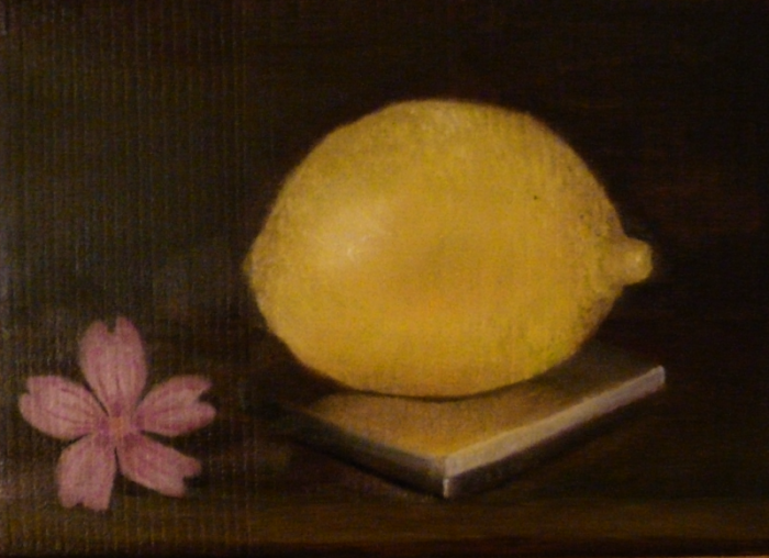 daily painting citron à la mauve