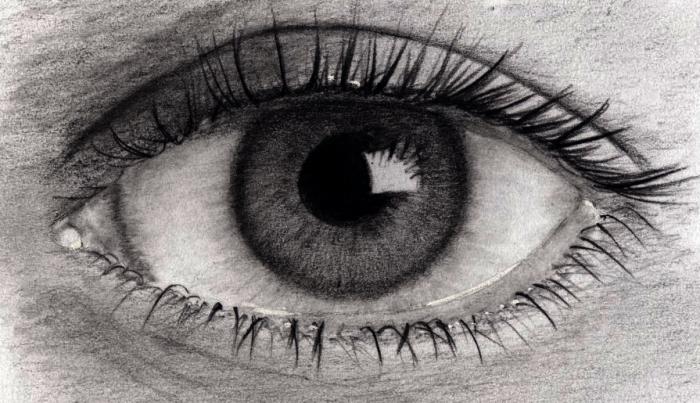 oeil au graphite
