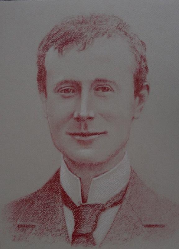 portrait Edward Adrian Wilson sanguine